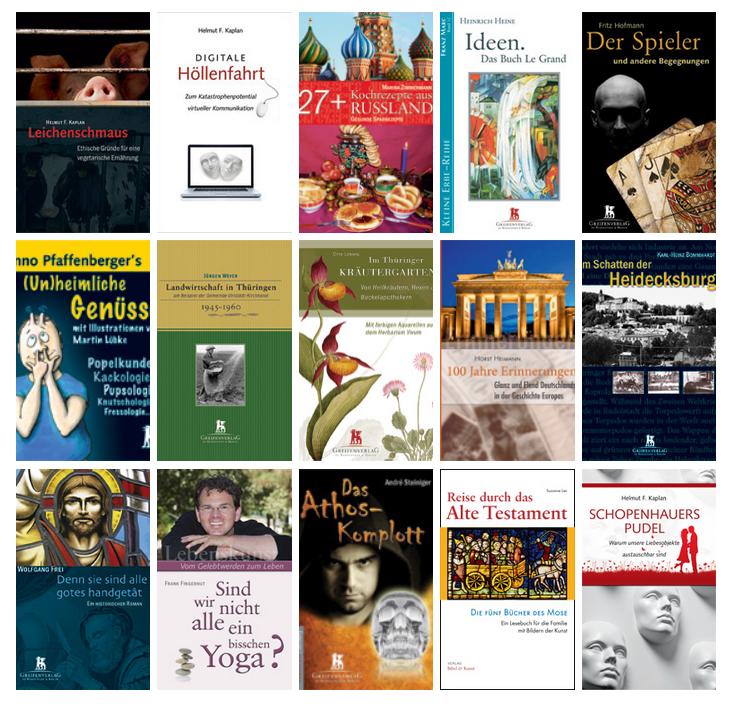Eine Auswahl von Buchcovergestaltungen